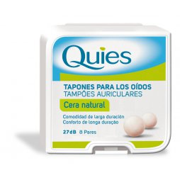 Quies Tapón Cera Natural 16uds