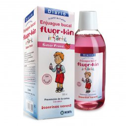 Fluor Kin Infantil Fresa Enjuague