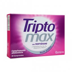 Triptomax Triptofano Vitamina B 30 Comprimidos