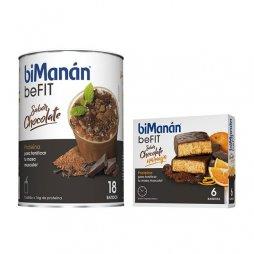 Bimanan beFIT Batido Chocolate 18 batidos 540g + 6 barritas de regalo