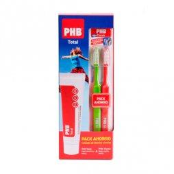 Phb Pack Total Pasta100ml+2 cepillos Classic Medio