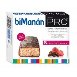 Bimanan Pro  Chocolate Fresa 6 Barritas