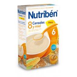 Nutriben Papilla 8 Cereales Miel Fibra 600g