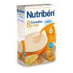 Nutriben Papilla 8 Cereales Miel y Calcio 600g