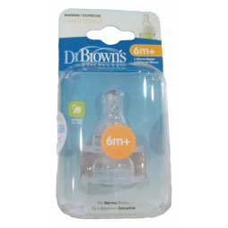 Tetina Silicona ST +6M 2uds Dr Brown`s