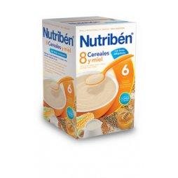 Nutriben Papilla 8 Cereales Miel Leche Adapta 600g