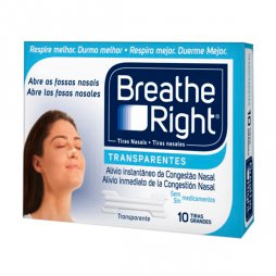 Breathe Right Transparentes 10 Tiras Grandes