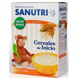 Sanutri  Papilla Cereales de inicio S/Gluten Bifidus 600g