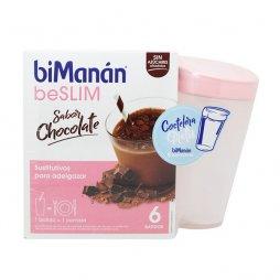 Bimanan beSLIM Batidos Chocolate 6uds