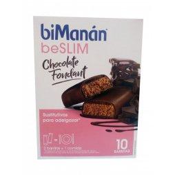 Bimanan beSlim Barritas Chocolate Negro 10uds