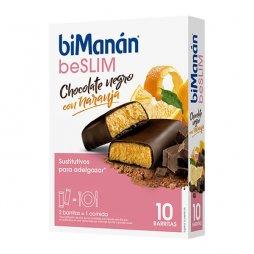 Bimanan beSlim Barritas Chocolate Negro/Naranja 10uds