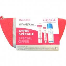 Uriage Isoliss Kit Fluido 40ml + Contorno de ojos + agua termal + neceser
