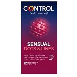 Control Sensual Dots & lines 12 ud