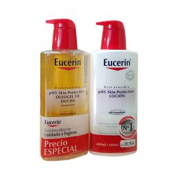 Eucerin Pack Oleogel 400ml+Locion 400ml