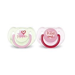 Avent Chupete 6-18M I Love Rosa 2uds