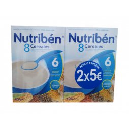 Nutriben Papilla 8 Cereales 2X600gr