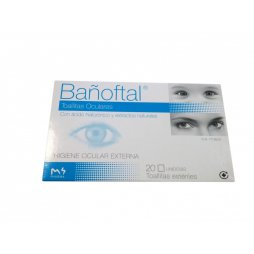 Bañoftal Toallitas Oculares Estériles 20 ud