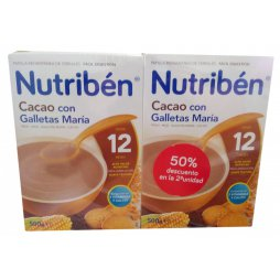 Nutriben Duplo Cacao Galleta 12M 500gr
