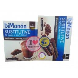 Bimanan Pack Batido Chocolate + Barrita Fondant
