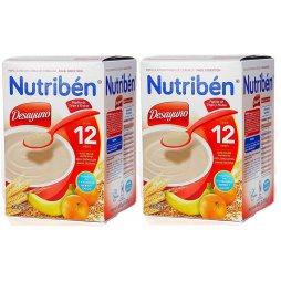 Nutriben Desayuno Trigo-Frutas 12M 2X600g