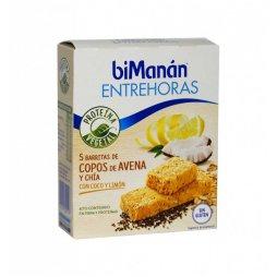 Bimanan Entrehoras 5 Barritas Avena Coco-Limón