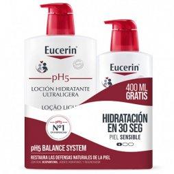 Eucerin Loción Ultraligera Piel sensible y seca 1L