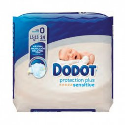 Dodot Sensitive Protección Plus Recién Nacido T0 24uds