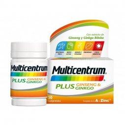Multicentrum Plus Ginseng/Ginkgo 30 comprimidos