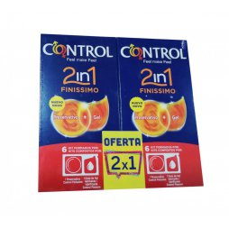 Control 2in1 Finissimo 2X1 6+6 Preservativo + Gel