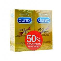 Durex Pack Real feel 2ud 50% 12+12ud
