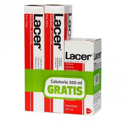 Lacer Pasta Duplo 125ml + Colutorio 200ml