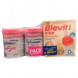 Blemil Plus 2 Optinum 2x800gr + Regalo Papilla 8 cereales 600gr