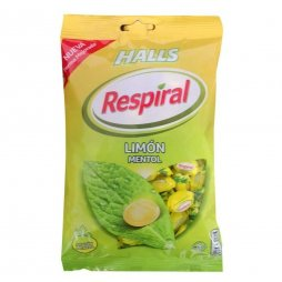 Halls Respiral Bolsa Limón Mentol 150gr