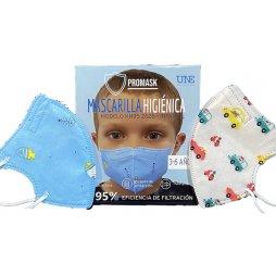 Mascarilla Modelo KN95 Infantil niño 2ud