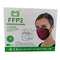 Mascarilla FFP2 Color Granate 10