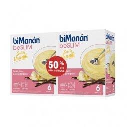 Bimanan beSLIM Pack 6 Natillas Vainilla 2ud al 50%