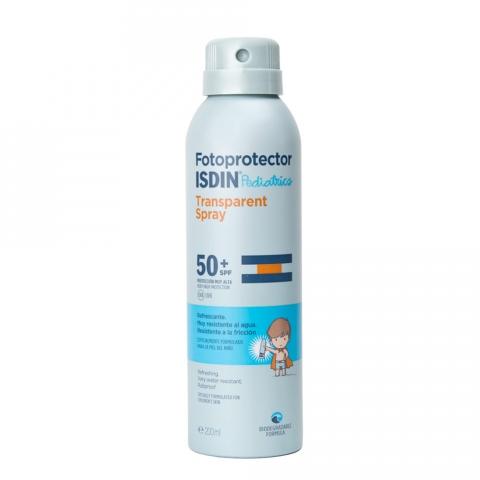 Fotoprotector Isdin Pediátrico Transparente Spray SPF50+ 200ml