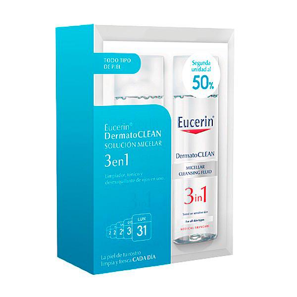 Eucerin Pack Dermatoclean  Solución Micelar 2x200ml