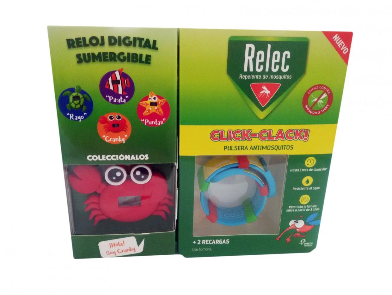 Relec Pulsera Antimosquitos Cangrejo + 2 recargas