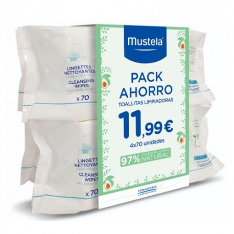 Mustela Pack Ahorro 4x70 Toallitas